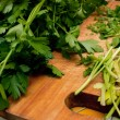 Cutted parsley — Stock Photo