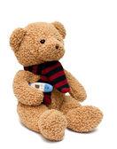 Ziek teddy bear — Stockfoto