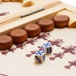 Foto Stock: Backgammon