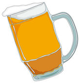Mug of beer. Isolated on white. — Stock Vector