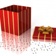 Christmas gift box - Stock Photo