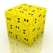 Stock Photo: Emoticon puzzle cube