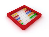 Red abacus — Stock Photo
