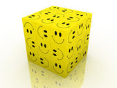 Emoticon puzzle cube — Stock Photo