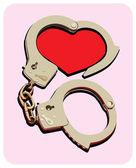 Handcuffs_heart — Stock Vector