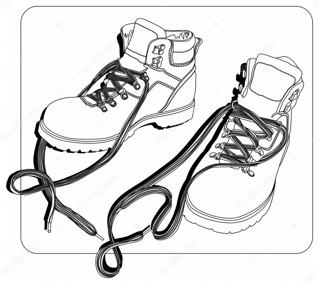 Free coloring pages of snow boots for Winter boots coloring pages