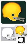 Helmet_classic — Stock Vector