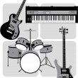 Music_instruments — Stock Vector