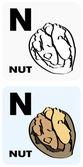 Alphabet_N — Vettoriale Stock