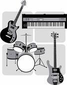 Music_instruments — Stock Vector