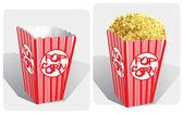 Popcorn — Stock Vector