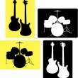 Music-instruments_i — Stock Vector
