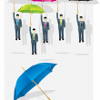 Stock Vector: Umbrella_men