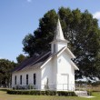 Small Rural Church in Texas - Stock Photo