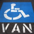 Handicap Van Parking — Stock Photo