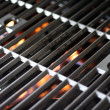 Hot Grill and Fire - Stockfoto
