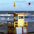 Lifeguard station or stand on the beach — Stock Photo