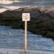 Stock Photo: No swimming sign