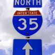 Highway 35 Road Sign — Stock Photo #1388481