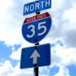 Royalty-Free Stock Photo: Highway 35 Road Sign