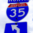 Highway 35 Road Sign - Stock Photo