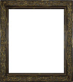 Wooden Picture Frame on White — Stock Photo