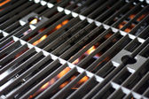 Hot Grill and Fire — Stock Photo