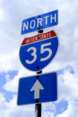 Highway 35 Road Sign — Stock Photo