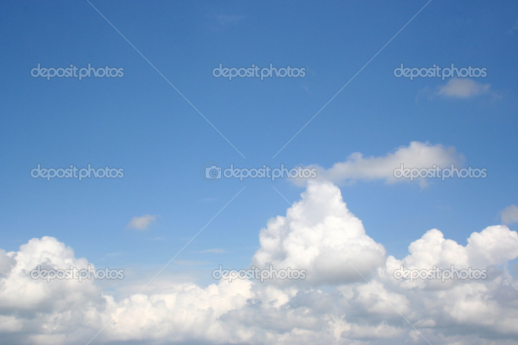Great shot of the sky above the clouds. Works great with copy.  Very clear. — Stock Photo #1385333