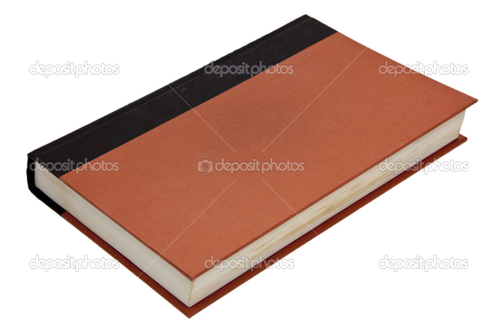 A blank closed book cover isolated on white  Stock Photo #1385405