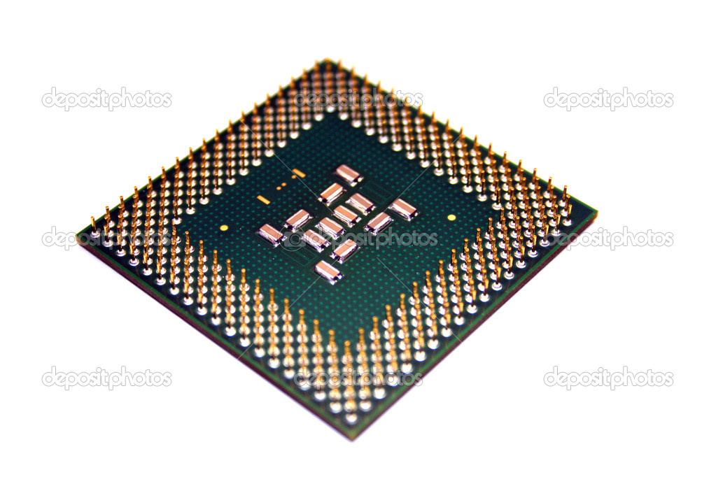 A computer processor isolated on a white background  Stock Photo #1385406