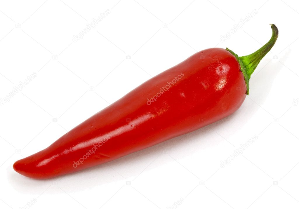 A red hot chili pepper isolated on a white background — Stock Photo #1385472