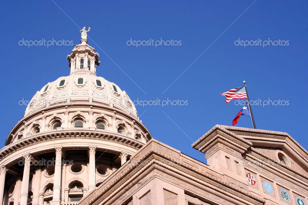 A nice clean shot of the Texas State Capitol Building in downtown Austin, Texas. — Stock Photo #1386158