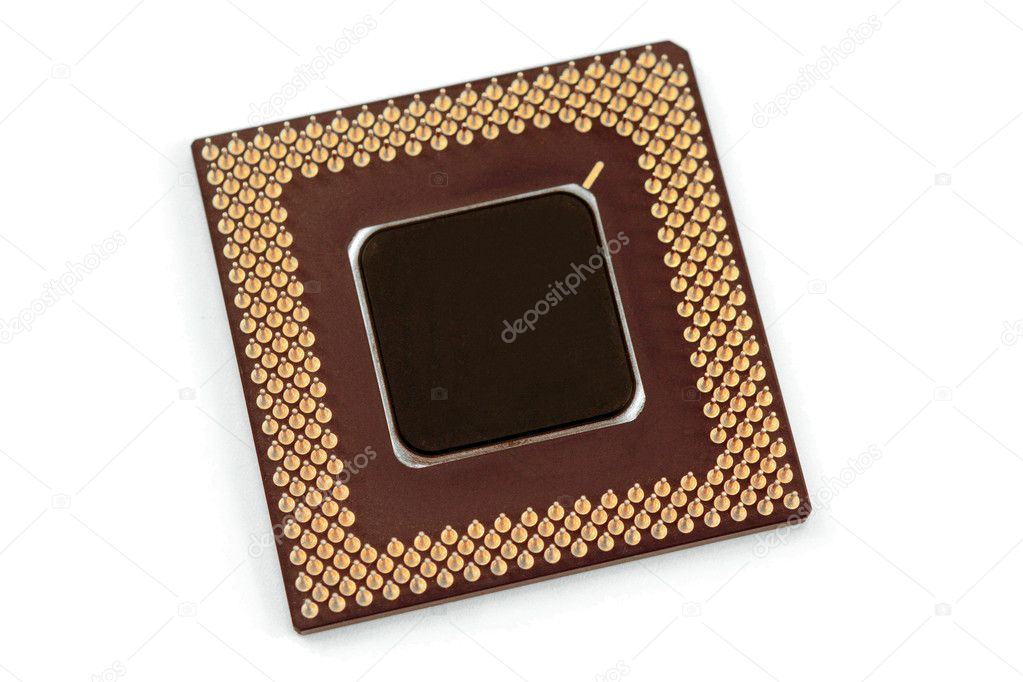 A computer processor on a white background. — Stock Photo #1386957