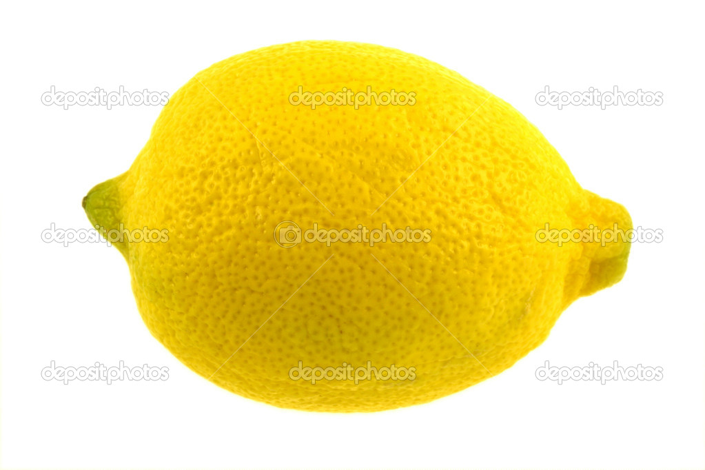 An isolated lemon on white — Stock Photo #1388041
