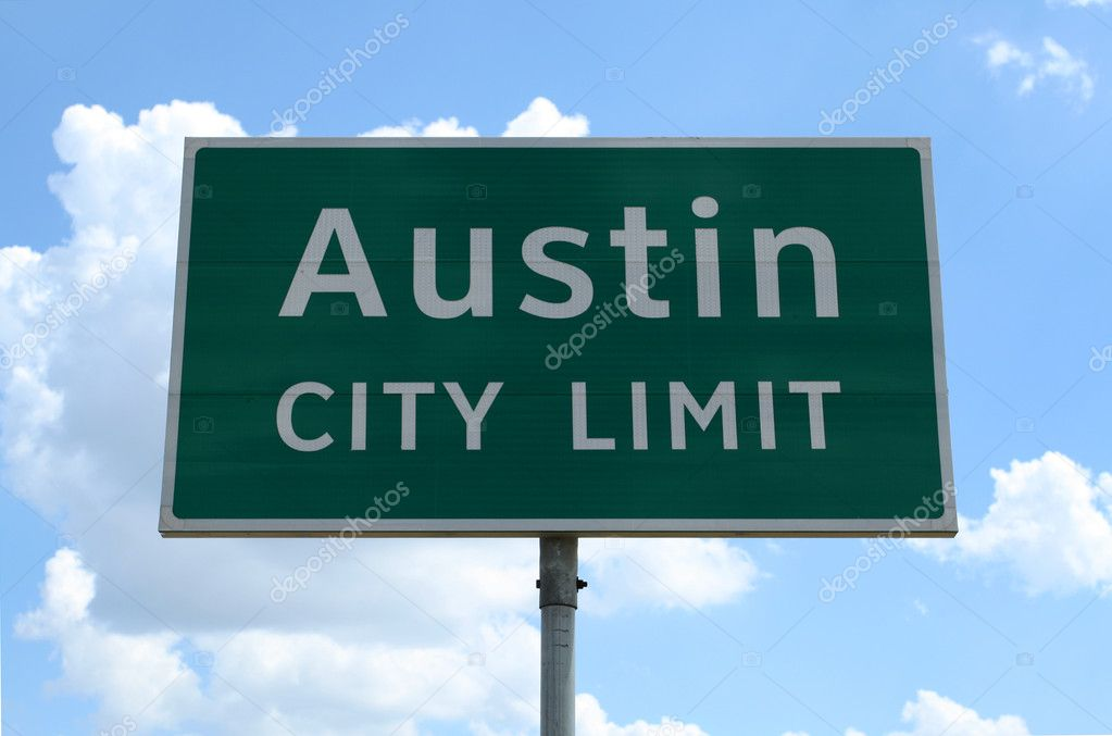 An Austin City Limit road sign close up. — Stock Photo #1388456