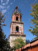 Belltower on restoration. — Stock Photo