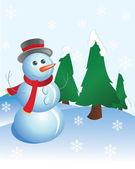 Snow man — Stock Vector