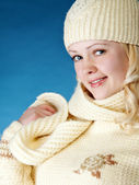 Young girl with scarf — Stock Photo