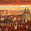 Royalty-Free Stock Photo: Sunset over Prague