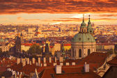 Sunset over Prague — Stock Photo