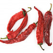 Stock Photo: Dried red hot chili peppers