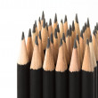 Graphite pencils in block — Stock Photo