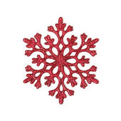 Red glitter snowflake — Stock Photo