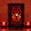 Red candlelight - Stock Photo