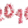 Royalty-Free Stock Photo: Red tinsel 2010