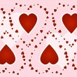 Red hearts — Image vectorielle