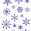 Royalty-Free Stock Vector Image: Set of different snowflakes