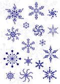 不同的雪花一套 — 图库矢量图片
