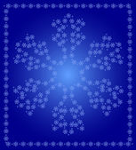 Snowflake of snowflakes — Vector de stock